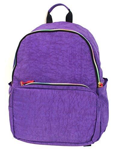 Amazon.com : DealMux Lonas Zipper Encerramento Casual estudante Backpack Bookbag roxo : Sports & Outdoors