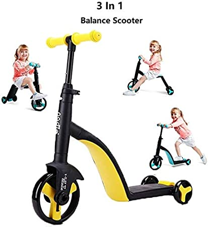 3 en 1 bicicleta de equilibrio for Vespa 2 3 4 5 6 años de edad, niños y niñas Juguetes for montar el triciclo del bebé Vespa bicicletas de tres ruedas del cochecito de Formación de bicicletas for niñ