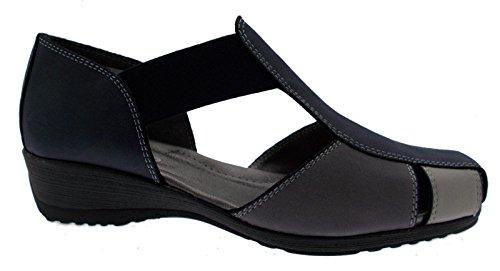Scarpa 41 Elastico Sandalo Art 08967 Grigio Multi Blu Accollato RvRnEqrw8