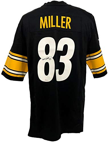 Heath Miller Steelers Autographed/Signed Nike On-Field Jersey 130607