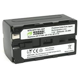 Wasabi Power Battery for Sony NP-F730, NP-F750, NP-F760, NP-F770 (4900mAh) and Sony CCD-TRV16, CCD-TRV201, CCD-TRV215, DCR-TRV110, DCR-TRV120, HXR-NX5U, HDR-AX2000, HDR-FX1000, HDR-FX7, HVR-V1U, HVR-Z7U, HVR-Z5U
