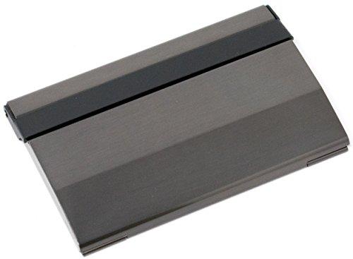 Slim Brushed Gunmetal (Wide) Business Card Holder