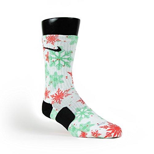 Kobe 7 Christmas Size 11 - HoopSwagg Let It Snow Custom Nike Elite Socks Medium