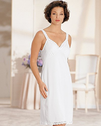 - 27014 36 24 White Shadowline Stretch Lace Strap Full Slip