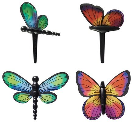Dragonfly and Butterfly Cupcake Picks - 12 ct by Bakery Supplies - Bugs Birthday Cake