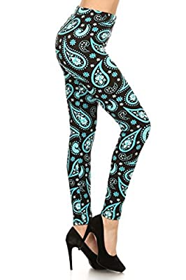 Leggings Depot Women's Fall/Winter Ultra Soft Popular Best Christmas Galaxy Printed Holiday Fashion Leggings BAT1