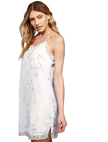 Image of A Pea in the Pod Lace Trim Nursing Nightgown