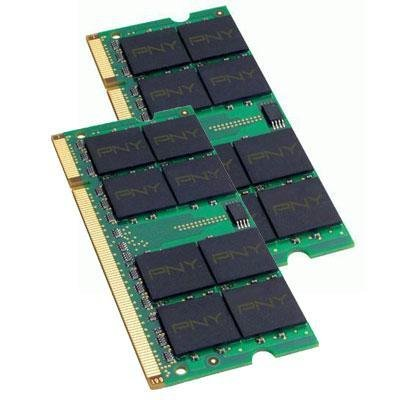 PNY Optima 4GB (2x2GB) Dual Channel Kit DDR2 667 MHz PC2-5300 Notebook/Laptop SODIMM Memory Modules MN4096KD2-667 667 Pc2 5300 Dual Channel