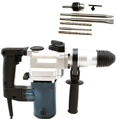 1'' SDS Electric Rotary Hammer Drill Plus Demolition Bits Variable Speed Case,NEW by Brand New