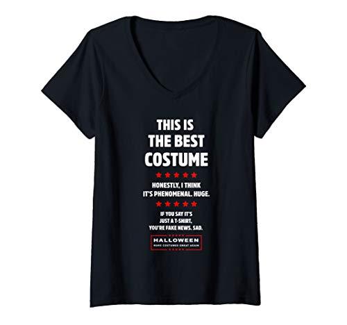 Easy Political Halloween Costumes (Womens Donald Trump Easy DIY Halloween Costume Funny Political Gift V-Neck)