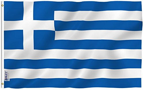 Anley Fly Breeze 3x5 Foot Greece Flag - Vivid Color and UV F