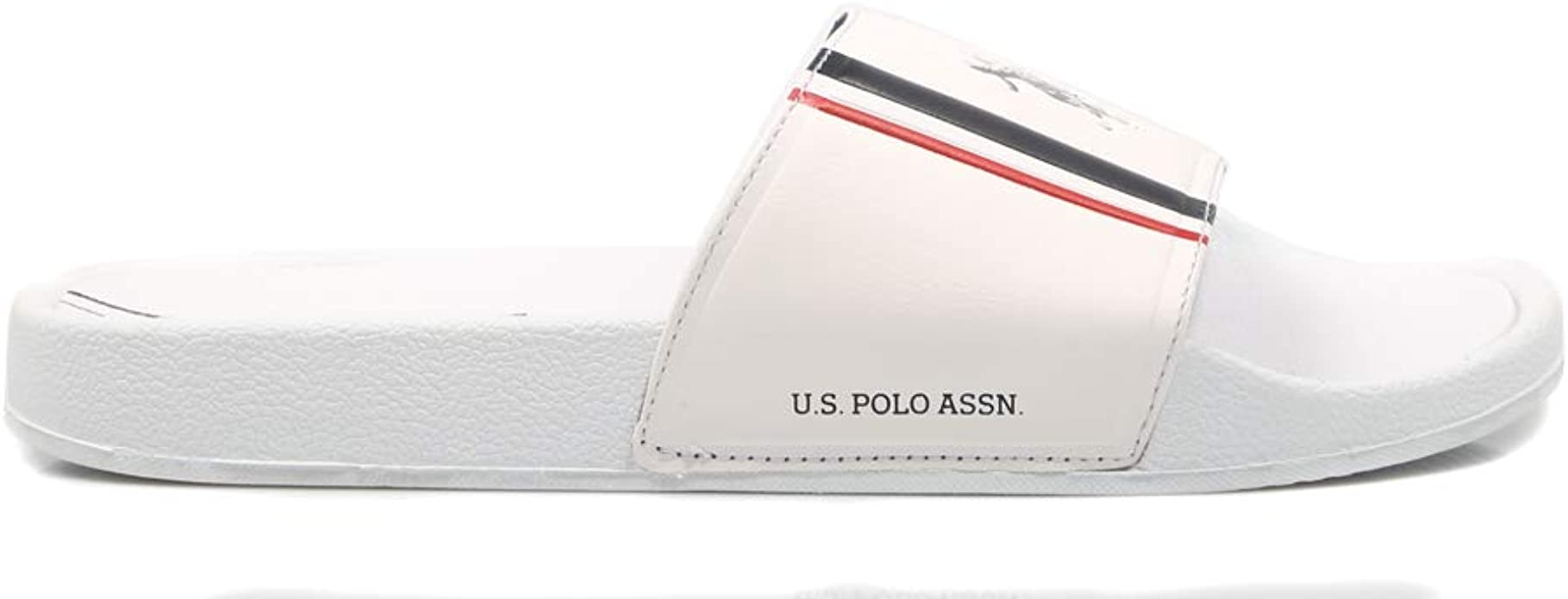 U.S. POLO ASSN NASSO White FUN2107S9/G1 Chanclas para Hombre, 42 ...