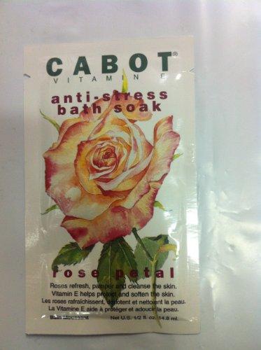 Cabot Vitamin E Anti-Stress Bath Soak 1/2 Fl. Oz. Envelopes - Rose Petal (Box of 24 Envelopes!)