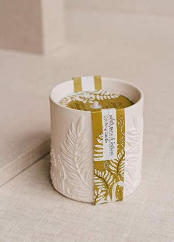 The Cottage Greenhouse by Margot Elena - White Pine & Balsam Ceramic Candle - No Dyes, Never Animal Tested, and No Animal by-Products | 12 oz (340 g) Candle 12 Oz 340g