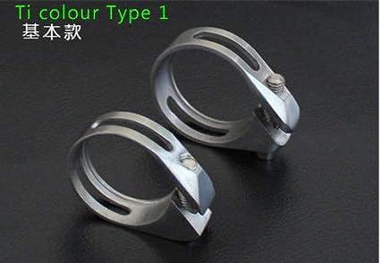 Titanium Alloy Seatpost Holder Clip Ti Clamp 31.8//34.9mm For Bike Bicycle