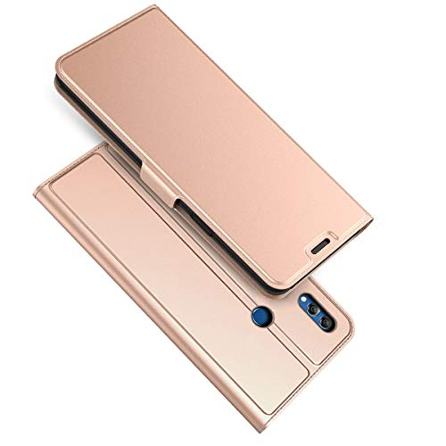 (Torubia Huawei Honor 8X Max Case, Premium PU Leather Wallet Pouch Flip Cover Case Anti-Scratch Defender CoverLeather iPhone Cases Compatible with Huawei Honor 8X Max (Rose Gold))
