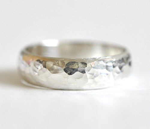 Men's Silver Wedding Band - Thick Wedding Ring