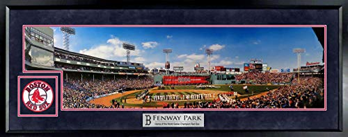 (Boston Red Sox Fenway Park 2004 WS Championship Ring Ceremony Panoramic (Deluxe Patch))