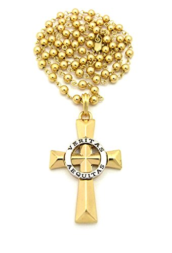 Veritas Aequitas Cross Pendant 6mm 30