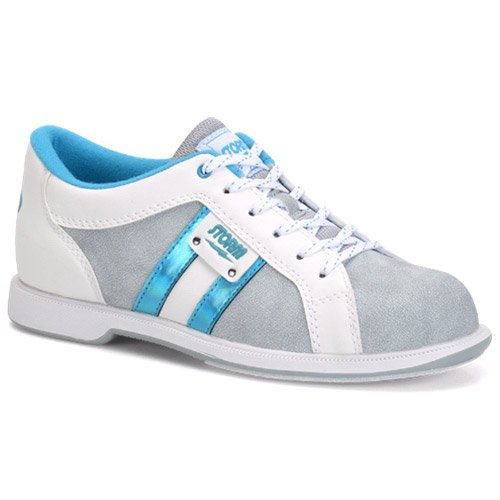 Storm Strato Bowling Shoes, Grey/White/Teal, Size 7.5