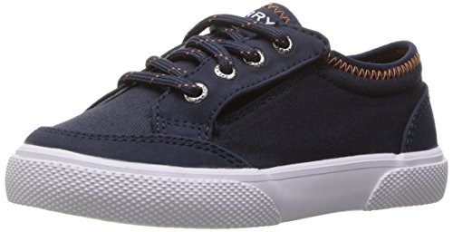 Sperry Deckfin A/C Sneaker (Toddler/Little Kid), Navy, 8 M US Toddler ()