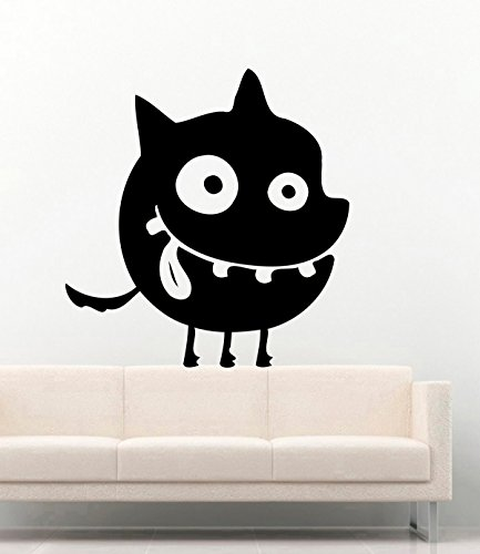Halloween Vinyl Wall Decals Funny Little Monster Ghost