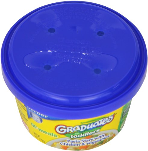 Gerber Graduates for Toddlers, Pasta Stars with Chicken & Vegetables, 6-Ounce Tubs (Pack of -