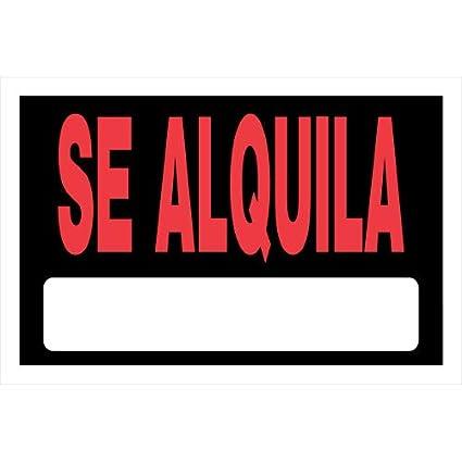 Amazon.com: Hillman 839958 se alquila español cartel con ...