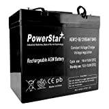 Pride Mobility 12V 55Ah 22NF AGM Deep Cycle Battery Replaces UPG 55ah-2YR Warran