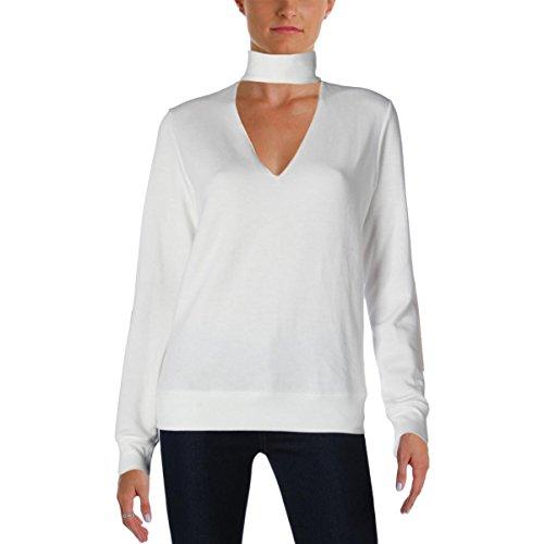 (Bailey 44 Womens Tencel Cut-Out Sweatshirt White S)