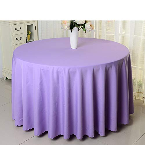LUHEN Hotel Tablecloth Solid Color Round Tablecloth Table Cloth (Color : K, Size : Diameter320cm(126inch))
