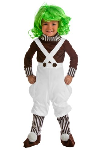 Oompa Loompa Factory Worker Costume (Little Boys' Chocolate Factory Worker Costume 4T)