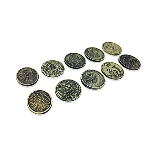 Dragon Variety Pack (Set of 10) (Metal plated novelty) Adventure Coins For RPGs / LARP | DnD Pathfinder Live Action Role-playing GameS by Norse Foundry