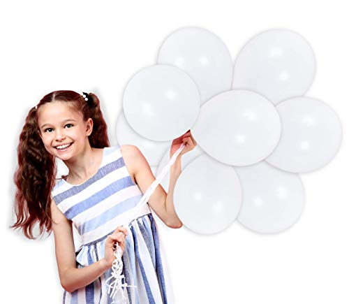 Treasures Gifted 4th of July Party Kit Pearl White Latex Balloons 72 Pack Graduation Party Supplies 12 Inch Premium Quality for Arch Column Stand School Wedding Baby Shower Birthday Party Decorations (Striking Spring Bouquet)