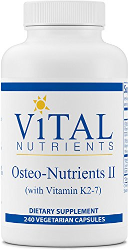 Vital Nutrients - Osteo-Nutrients II (with Vitamin K2-7) - Bone Support Formula With Boron - 240 Capsules