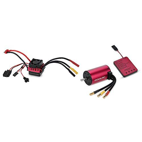 GoolRC S3660 3800KV Sensorless Brushless Motor 60A Brushless ESC and Program Card Combo Set for 1/10 RC Car Truck