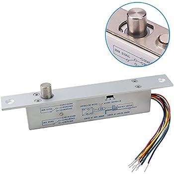 amazon com uhppote fail secure electric latch bolt lock w cylinder rh amazon com