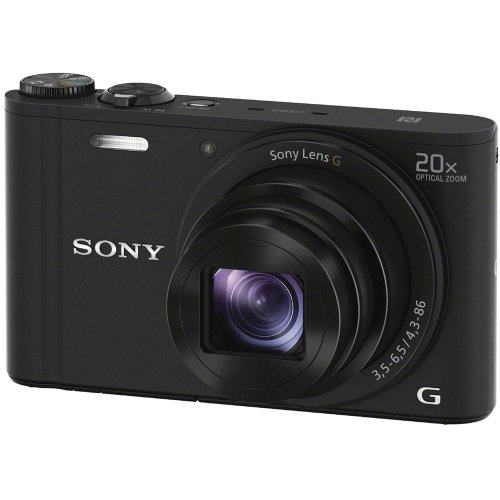 Sony Cyber-Shot DSC-WX350 Digital Camera (Black) with 32GB Card + Case + Battery/Charger + Tripod + HDMI Cable Kit
