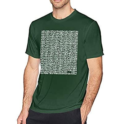 Aergaerg387 Middle DJ Snake Mens T-Shirt for Teenager Forest Green S