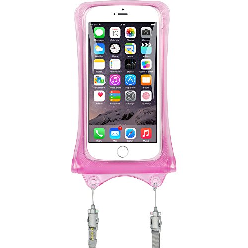 AquaVault 100% Waterproof Floating Phone Case and Money Pouch. Includes Neck Strap, Fits All Phones (3g Clear Iphone Screen)