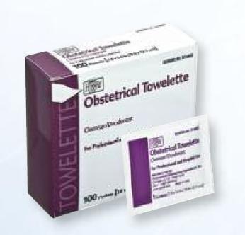 PDI Hygea Obstetrical Towelette cleanse deodorant D74800 box of 1000 by PDI HYGEA®