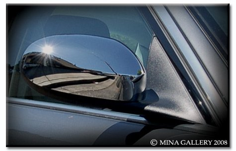 Mina Gallery Chrome Mirror Cover Set for Jaguar XJ8 XJR 2004-2007 by Mina Gallery