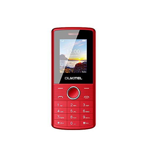 Unlocked Cell Phones, Oukitel L3 Dual SIM GSM Mobile Phone for Seniors with 8W Camera -Retail Packaging Phone-Red