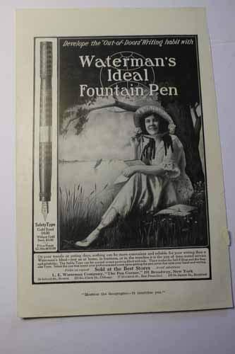 (Advertisement: L. E. Waterman Company