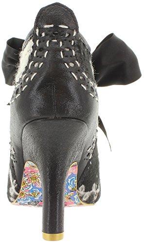 Irregular Choice - Botas de tela, sintético para mujer Negro - blanco/negro