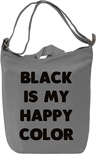 Black colour Borsa Giornaliera Canvas Canvas Day Bag| 100% Premium Cotton Canvas| DTG Printing|