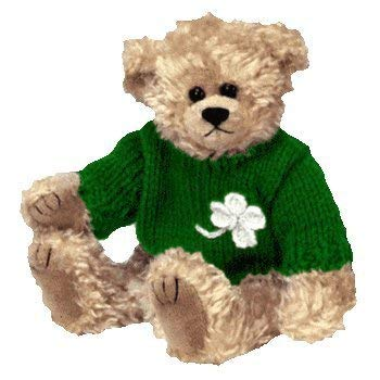 Ty Attic Treasure Blarney Bear with Green Irish Clover Sweater 8