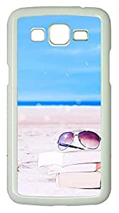 Samsung 2 7106 Case Beach Glasses And Books PC Samsung 2 7106 Case Cover White