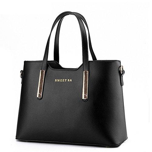 Amazon.com: Color Scissor Women Genuine Leather Shoulder Bags Top ...