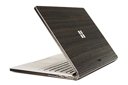 TOAST- Real Wood Ebony Cover for Surface Book with Performance Base and Windows logo cutout.